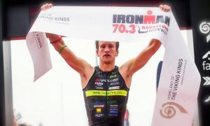 IRONMAN 70.3 Norway 2015 winner, Ritchie Nicholls. Foto: Arrangør